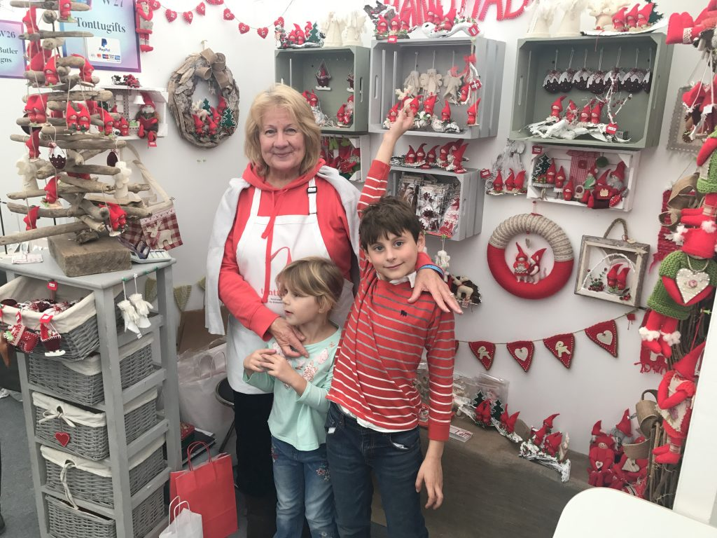 At a craft fair with 2 of my grandchildren